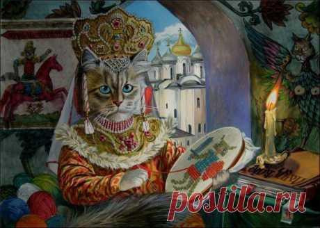 """Alejandro Zavaly \""""los gatos Épicos\"""" (\""""Epical cats\"""")"""