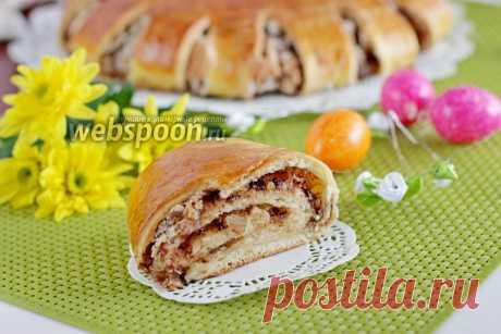 Рулет из дрожжевого теста с орехами и меренгой рецепт с фото, как приготовить на Webspoon.ru