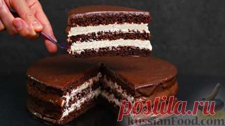Шоколадный торт «Стаканчиковый» с творожно-сметанным кремом - очень простой, а результат взрывоопасный!