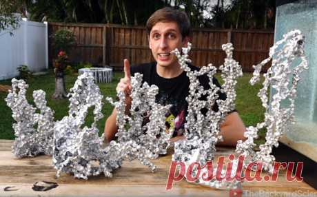 Make abstract aluminum figures