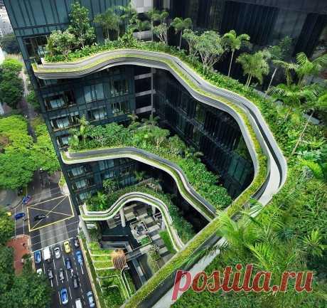 Отель-сад Parkroyal в Сингапуре - Путешествуем вместе