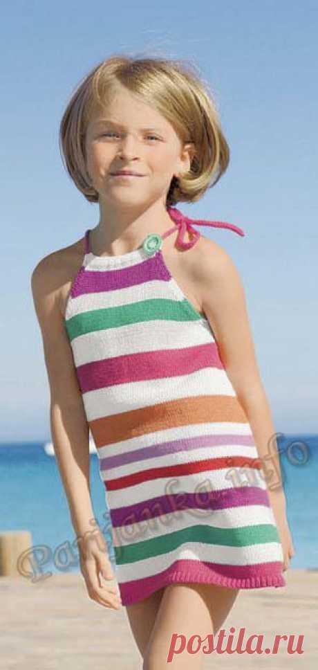 Платье с лямками (д) 27*162 Bergere de France №3042