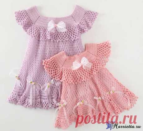 Нарядное платьице крючком для маленькой принцессы