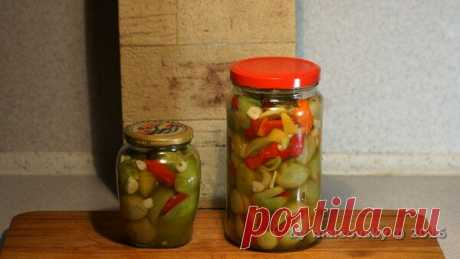 Зелёные помидоры с болгарским перцем. Как сделать эту островатую закуску | malcovsky | Яндекс Дзен