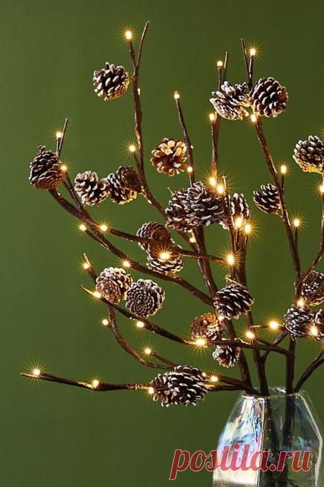 Шишка - отличное решение для новогоднего декора! Идеи для воплощения! | Юлия Жданова | Яндекс Дзен
