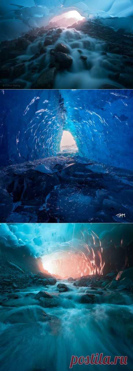 Безумно красивые миры в глубинах ледника Менденхолл ( Фото + Видео ) | Развлекательный сайт хорошего настроения