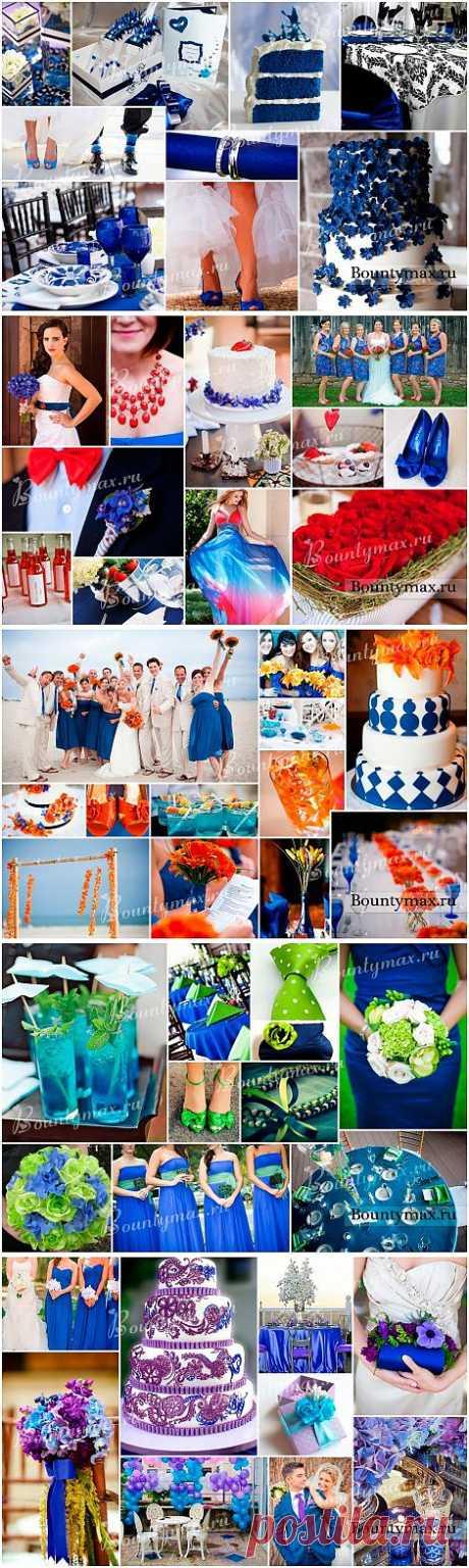 Свадьба в синем цвете: варианты сочетаний