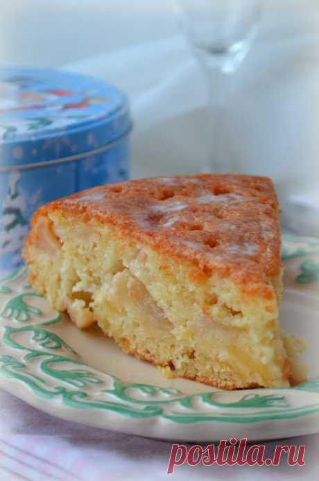 Яблочный пирог с заливкой для мультиварки