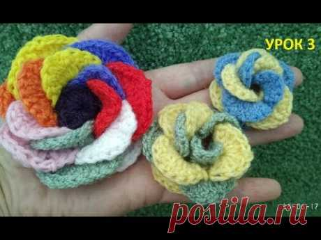 Flowers knitted a hook \/ How to connect floret \/ Crochet flower\/How to tie a flower crochet