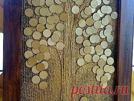 Делаем панно «Денежное дерево»