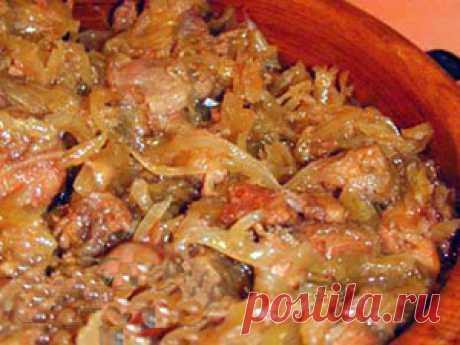 Солянка из капусты с мясом и картошкой