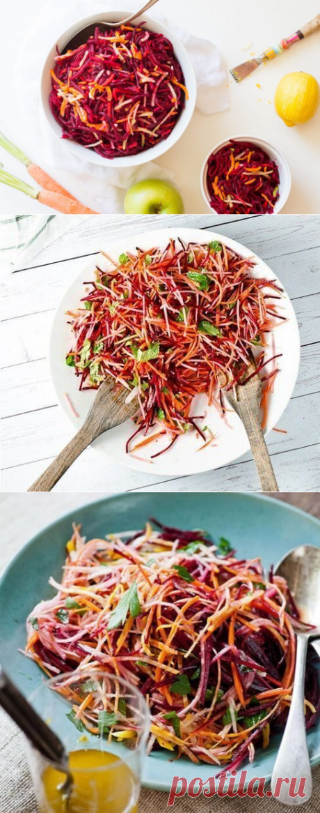 3 super useful recipes of salad from crude beet