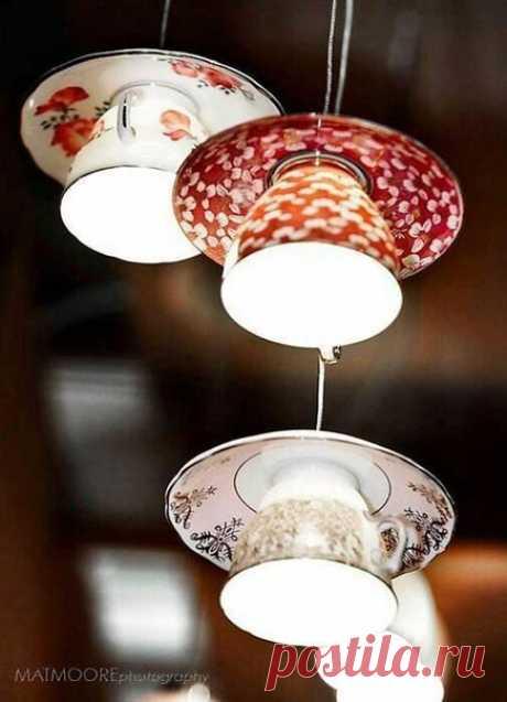 Светильники из посуды и кухонной утвари