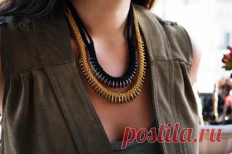 Еще одно крутое ожерелье из запчастей Модная одежда и дизайн интерьера своими руками