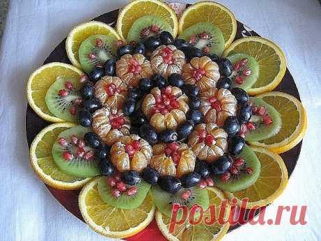 Оформление фруктовой тарелки