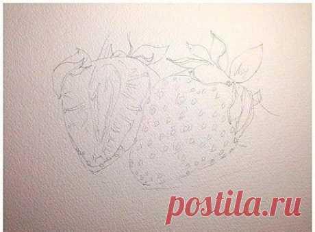 We draw the Handwork strawberry \/ Era