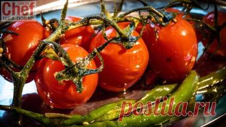 Бочковые помидоры в пакете / Салаты / Рецепты / Шеф-повар – простые и вкусные кулинарные рецепты, фото-рецепты, видео-рецепты