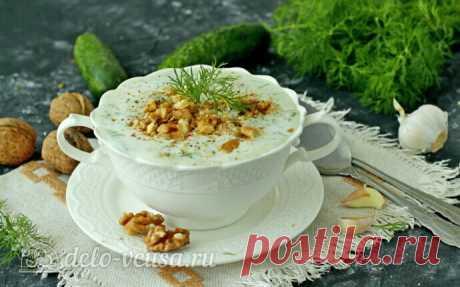 Болгарский суп Таратор с грецкими орехами, пошаговый рецепт с фото