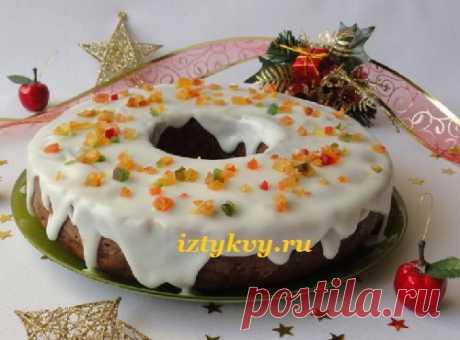 Рождественский пряный пирог с тыквой и глазурью