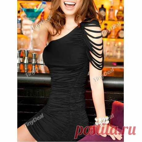 Party Casual Sloping shoulder Dresses for Women Girl Ladies NWO-171638 - TinyDeal