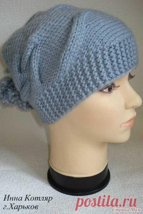 Модная вязаная шапочка(очень проста в вязании)