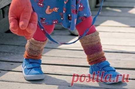 Гетры для девочки - схема вязания спицами
