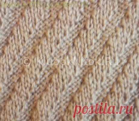 """Вязание на спицах - Вяжем мужчинам - Шикарный мужской пуловер спицами узором """"Диагональные полоски, имитирующие косы"""""""