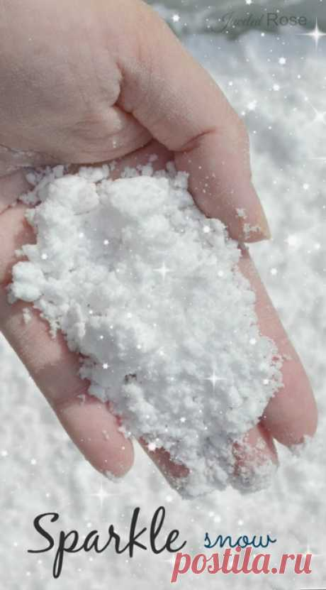 How to make artificial snow of the house