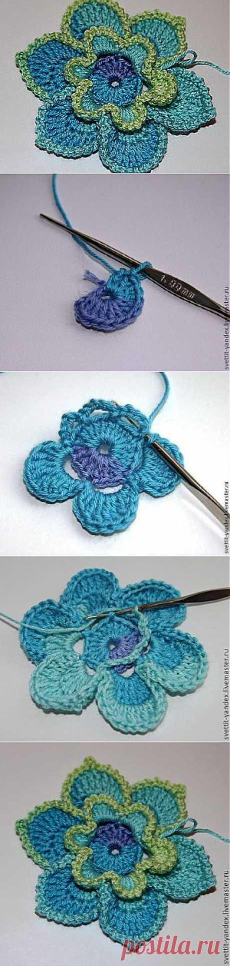 Вяжем крючком цветы - Ярмарка Мастеров - ручная работа, handmade