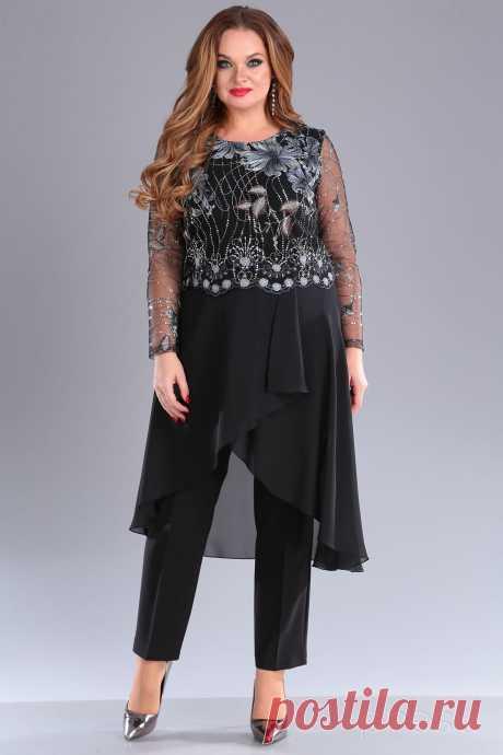 Комплект брючный Anastasia Mak 672 черный - Женская одежда