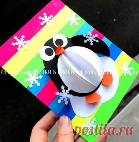Пингвинчик на льдине
