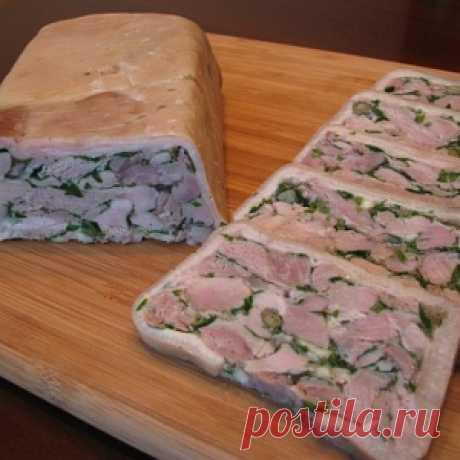 Terrine from pork hough