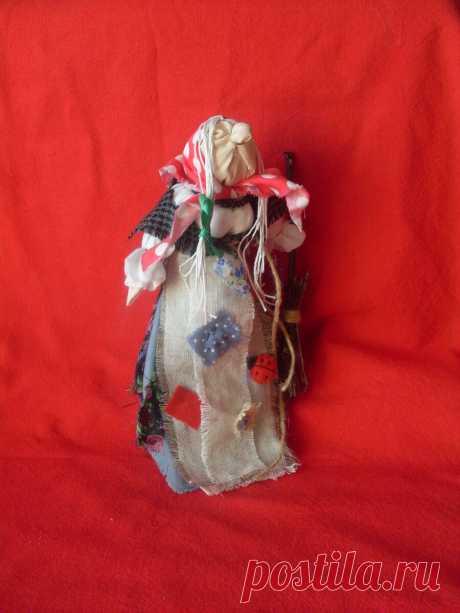 кукла-скрутка Бабка Ёжка - Ягиня, Ягуня, Ягинишна. | кукольная магия |