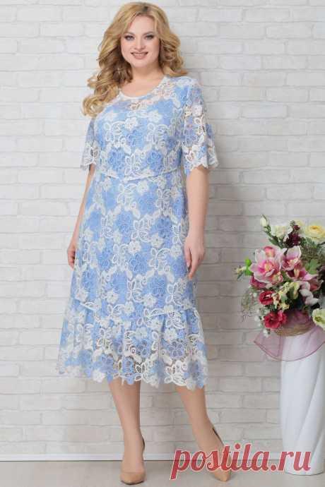 Платье Aira Style 793 голубой купить с доставкой по России | Интернет-магазин BelaRosso-shop.ru