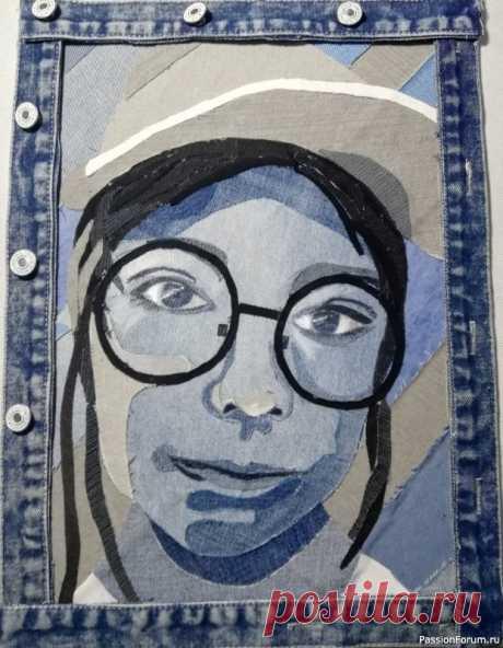 Портрет из джинсы своими руками! Видео МК | Пэчворк