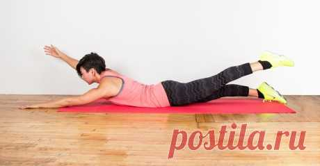 1 упражнение от Жировых валиков на спине. | TIME STRONG | Яндекс Дзен