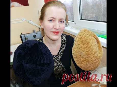 Beret from natural fur without the special equipment - YouTube