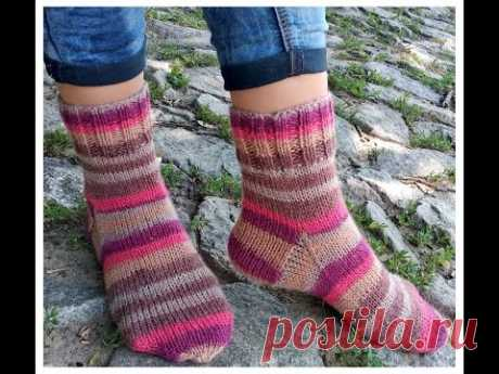Красивые носочки для начинающих