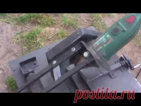 Improvisado MUY EXACTO otreznoy la máquina de la búlgara. - YouTube