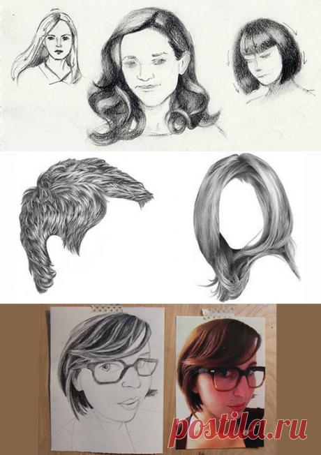 Как Рисовать Волосы | web-paint.ru