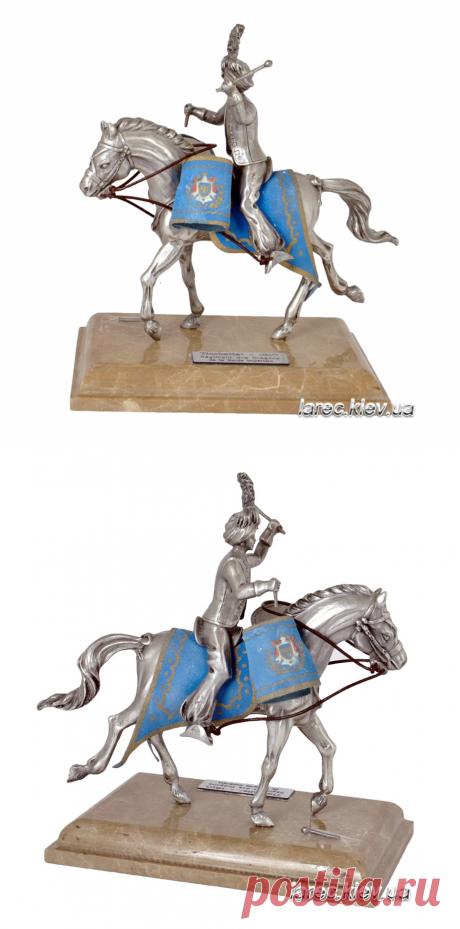 Купить статуэтку военного барабанщика всадника на коне с литаврами | Интернет-магазин подарков Ларец