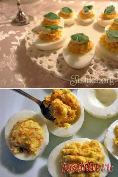 Фаршированные яйца - пошаговый рецепт с фото