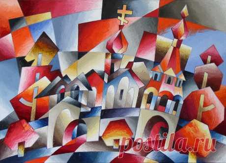 Красная церковь 2015 50х70 х.м.