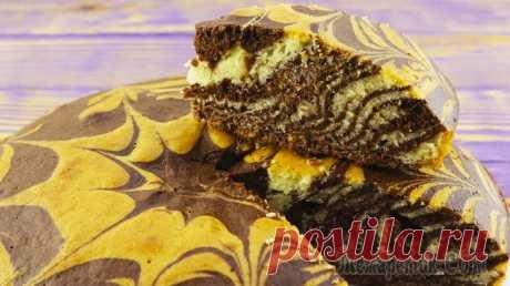 Самый удачный рецепт пирога «Зебра», который получится у всех!
