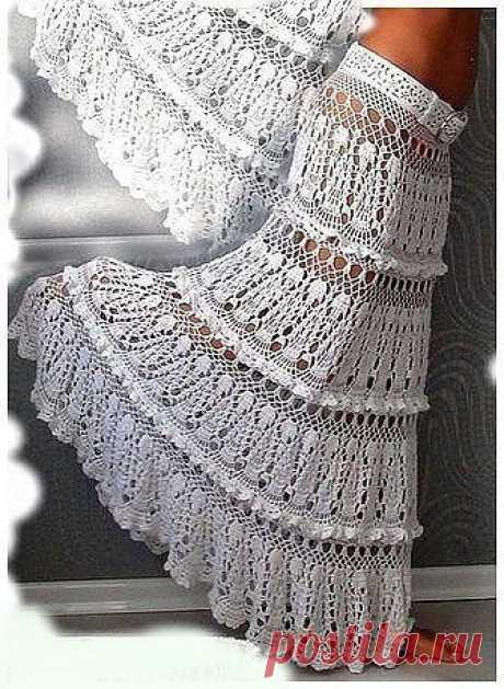 Шикарная вязаная юбка схема