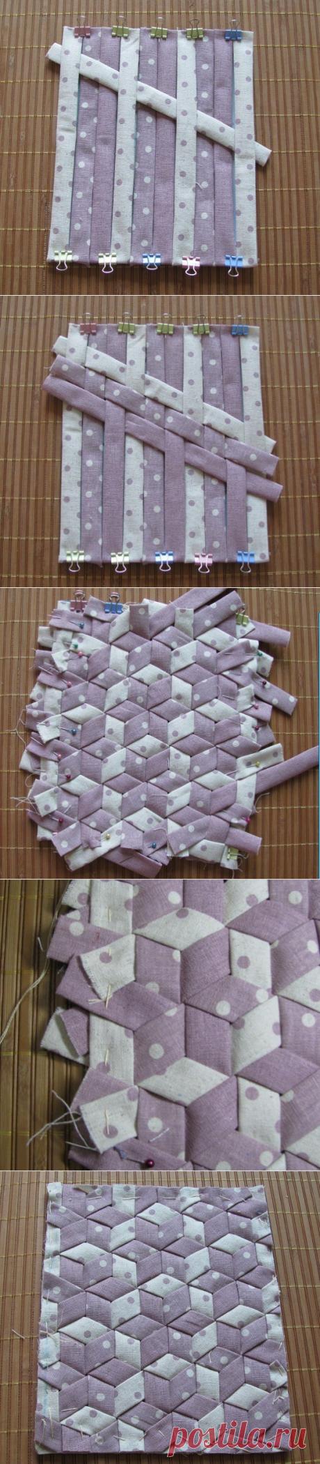 Лоскутное шитьё: японская техника плетения — Сделай сам, идеи для творчества - DIY Ideas