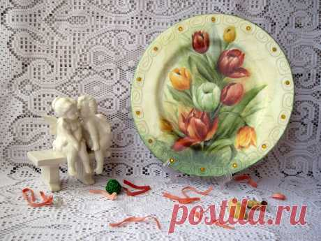 Ваза для цветов и тарелка декоративная – купить на Ярмарке Мастеров – B1LVTRU | Вазы, Москва