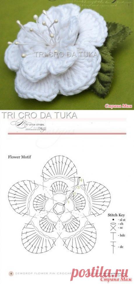 МК красивого цветка - Вязание - Страна Мам