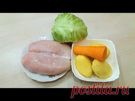 Беру картофель, капусту и немного мяса и готовлю ВКУСНЕЙШИЙ УЖИН .   Ленивые рецепты