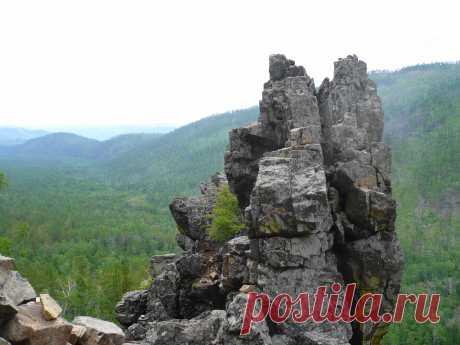 Природный заповедник в Забайкальском крае Алханай. Священное место у бурят. Фото Л.Д.Шариповой.
